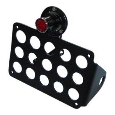 Support de plaque avec lampe LED rétro