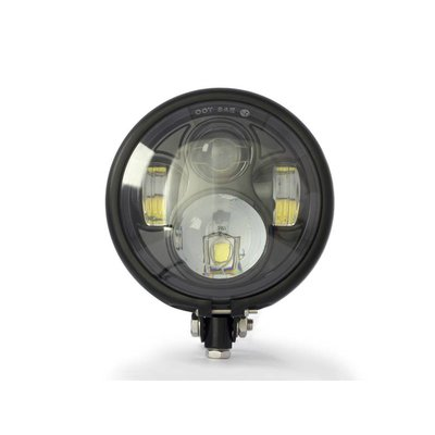 """5,75"""" CREE LED BATES Style Headlight BOTTOM MOUNT"""