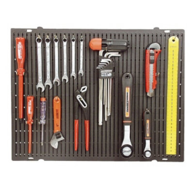 Mannesmann Tools wall with hooks