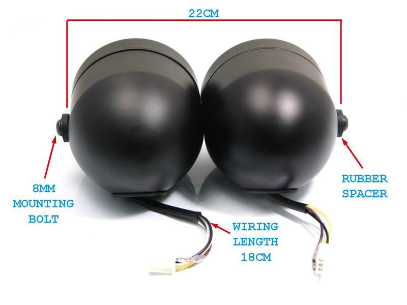 image shin yo twin headlight dull black caferacerwebshop com dominator twin headlight wiring diagram at readyjetset.co