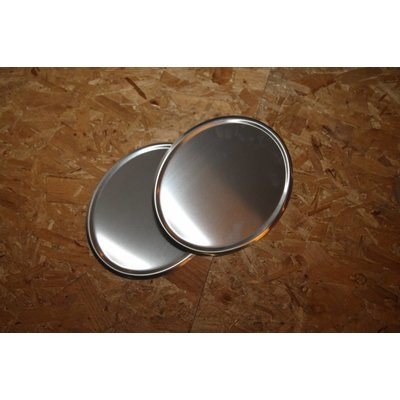 Handgefertigte Stahlplatte Oval