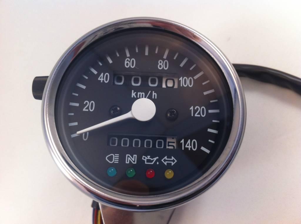 140 km h speedometer with 4 function lights. Black Bedroom Furniture Sets. Home Design Ideas