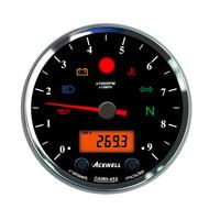 Acewell CA085 12.000RPM Speedo Black / Black