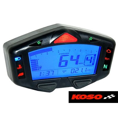 KOSO DB03-R Multi Function Motorcycle Digital Dash Cockpit