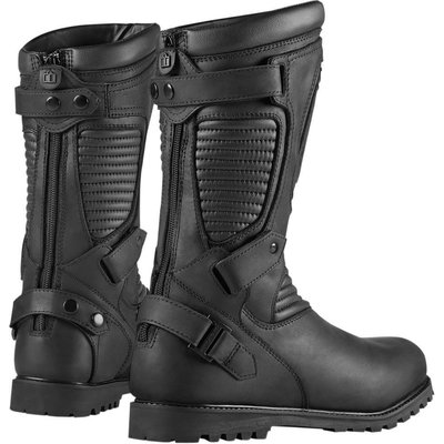 ICON Bottes de protection noires One Thousand