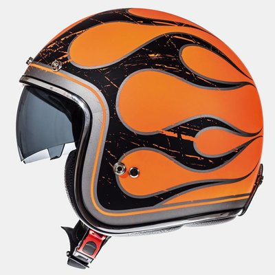 MT Le Mans SV Flaming Helmet