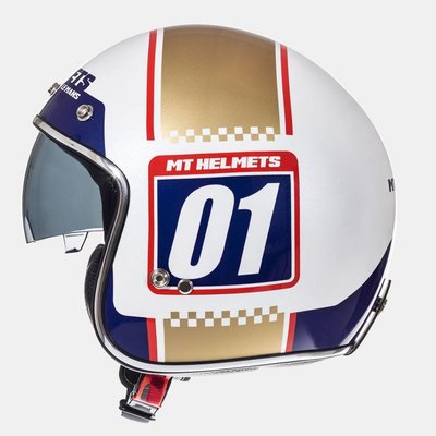 MT Helmets Le Mans SV Numberplate Weiss Helme