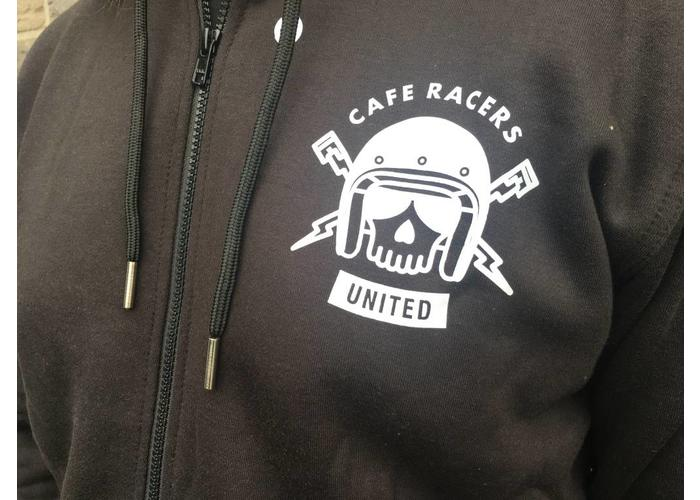 Cafe Racers United Kevlar Hoodie + 5 Protectors - Black