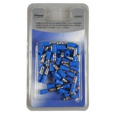 Kabelschuhe 50 Tlg Stecker Rung/2.5=>4 Blau