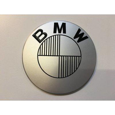 Emblèmes BMW 70MM faites à la main et brossées, type 3