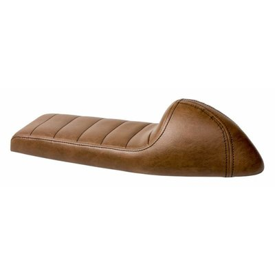 C.Racer Upholstered Cafe Racer Seat Tuck N' Roll Rustic Brown 58