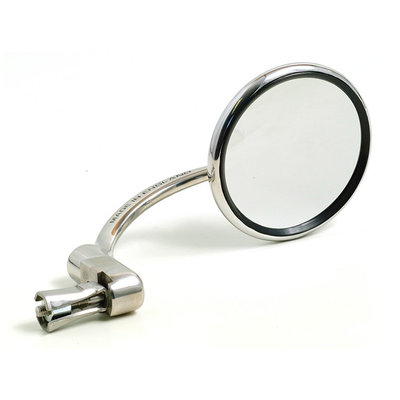 Halcyon 830 Classic Bar End Mirror Round Stainless