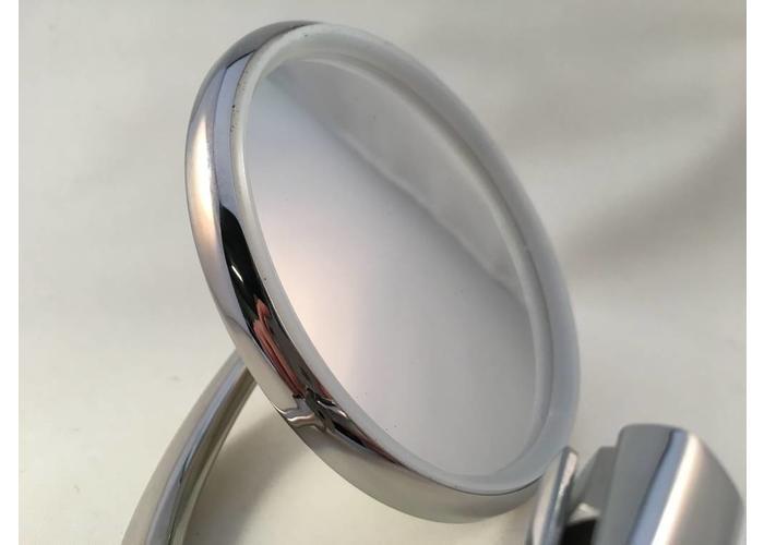 klassische hochwertige spiegel round edelstahl. Black Bedroom Furniture Sets. Home Design Ideas