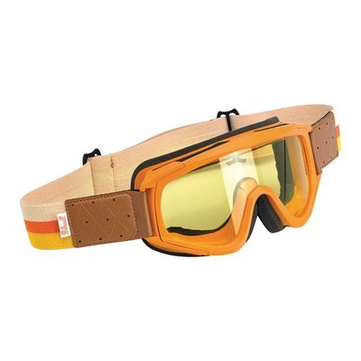 Biltwell Overland Goggle Orange / Yellow