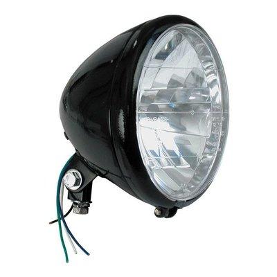 6.5 inch Headlight Black Bottom Mount