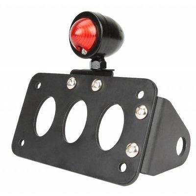 """Support de plaque noir + éclairage type """"Bullet"""""""