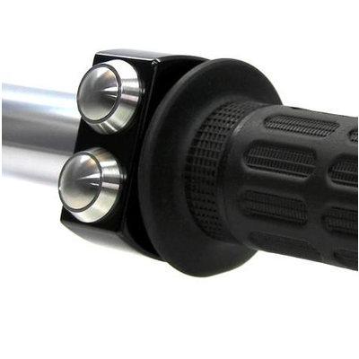 """Motogadget Interrupteur noir avec 3 boutons / 22 mm (7/8"""") poli"""
