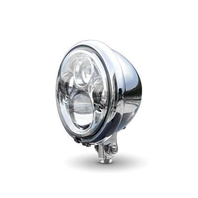 "5,75"" CREE QUAD LED Bates Style Headlight Bottom Mount Chrome"