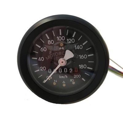 60MM Schwarz Tacho 220 km/h + 4 Funktions