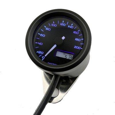Daytona Indicateur de vitesse noir Velona 48MM 200 km/h