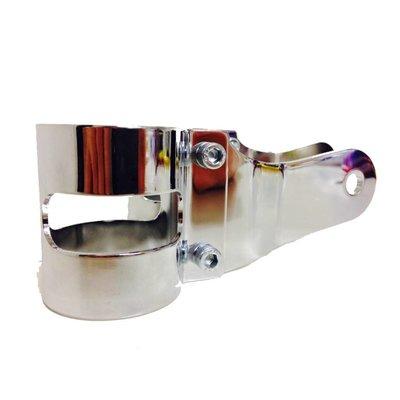 38 - 42MM Lampenhalter mit Vibrationsgummi Verchromt