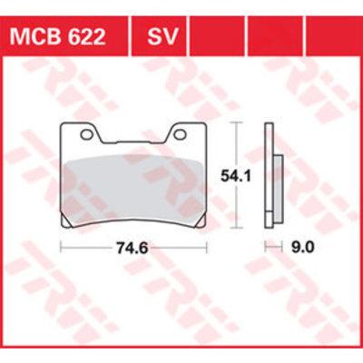 TRW MCB 622V Front Brake Pads - Yamaha TDM 850