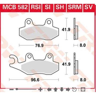 TRW MCB 582V Brake Pads - Triumph Scrambler