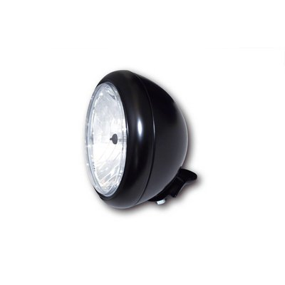 "Shinko 7"" Oldskool Cafe Racer Headlight Flat Black"