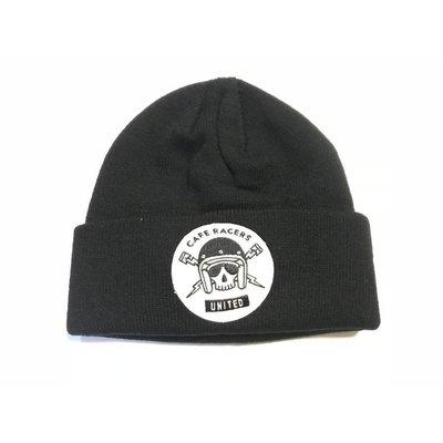 Motorcycles United Skull Docker Hat Black