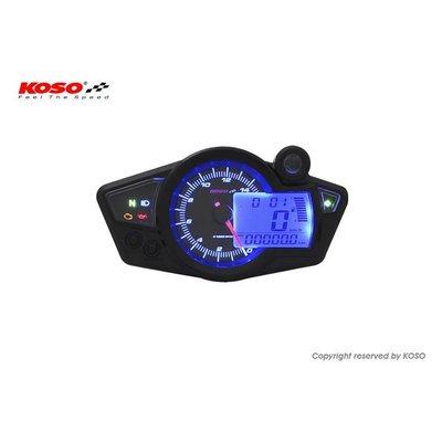 KOSO RX1N GP Style (schwarz / blaue Hintergrundbeleuchtung)