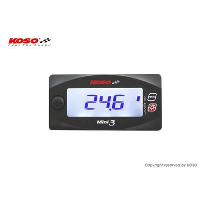 KOSO Mini 3 - Oil pressure meter
