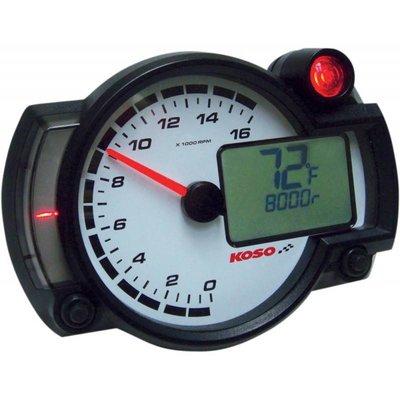 KOSO RX2NR + - Tachometer mit Thermometer und Temp. Alarm - Schaltlicht