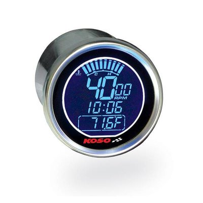 KOSO (max 360km/h )D55 DL-01S Snelheidsmeter (Zwart LCD - Blauw)