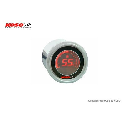 KOSO D48 Volt Meter (Black LCD - Red)
