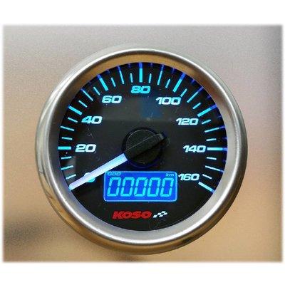 KOSO (max 160 km/h) D48 GP Style Snelheidsmeter, Benzine Meter, ODO