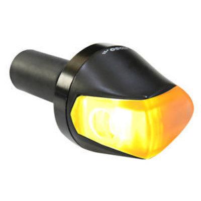 KOSO LED Blinker Knight - Bar End Blinker - Schwarz Smoke
