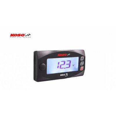 KOSO Volt & Clock Mini 3 (mit Hintergrundbeleuchtung)