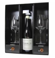 Relatiegeschenken Geschenkdoos Patrick Piuze Chablis & & 2 Stölzle Experience witte wijn