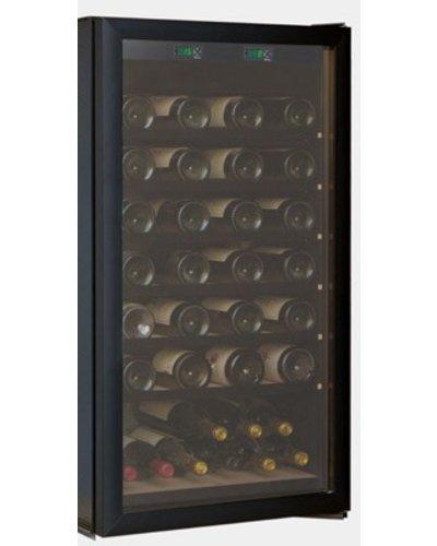 Cave Tastvin Glazen deur zwart voor T250