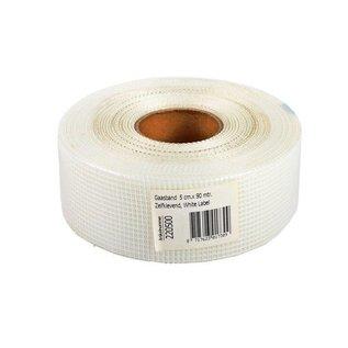Fabric tape 50mm x 90m White Label White