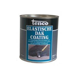 Tenco Elastic roof coating Black 1 liter or 2.5 liters