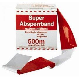 Afzetlint Waarschuwingsband Rood / Wit 500m