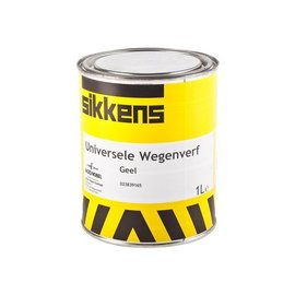 Sikkens Universal Road paint yellow 1 liter or 2.5 liter