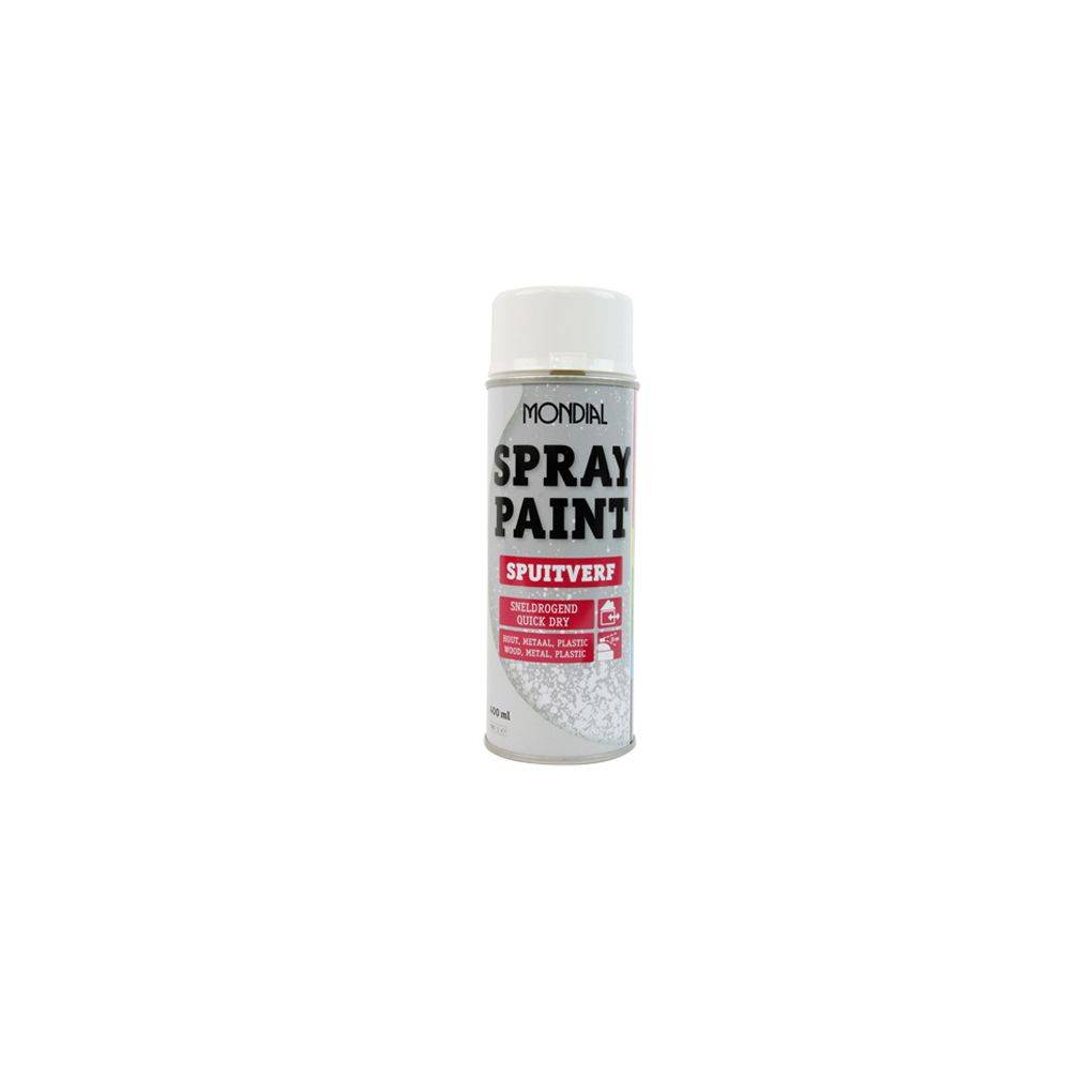 Mondial Gloss Spray Paint Off White Ral9010