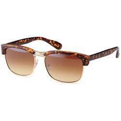 Leopard clubmaster zonnebril