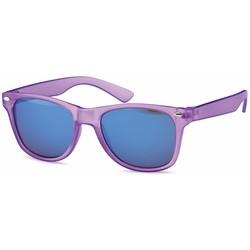 Kinder zonnebril wayfarer paars