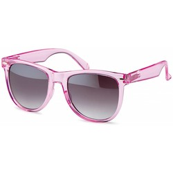 Transparante licht roze wayfarer