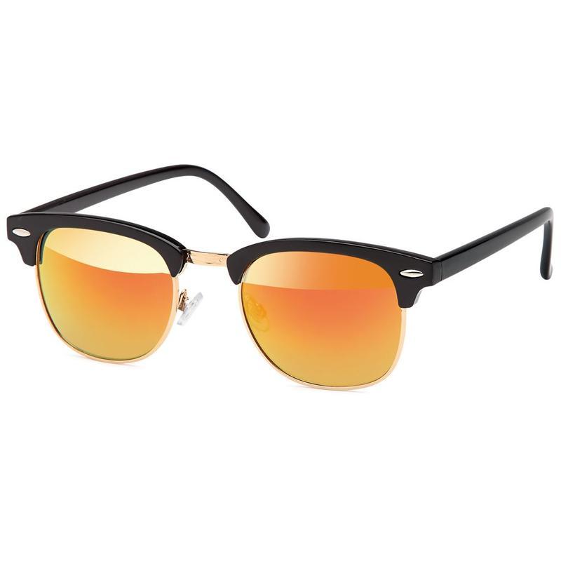 The Clubmaster Black Orange Zonnebril