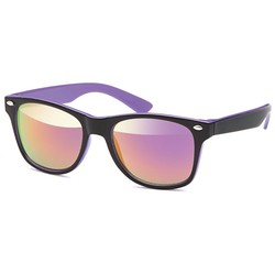 Kids Wayfarer Black Purple
