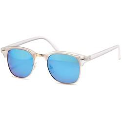 Transparante blauwe clubmaster